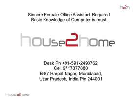 Female Office Assistant Computer Knowledge Is Must