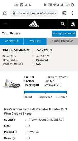 Adidas Football  shoes UK 6