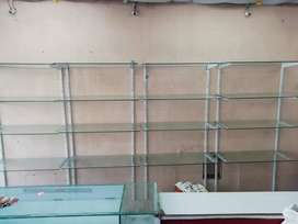 Self glass rack