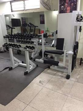 Full Gym Machines, Dumbles,Plats 2 Treadmills and Rods