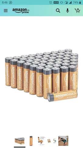 AmazonBasics AA Alkaline Non-Rechargeable Batteries (48 Count)