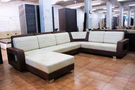 Fancy Saagwood C Shape Terence Launger Sofa Set