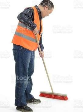 Hotel di safayi  layi sweeper di jarurt hai