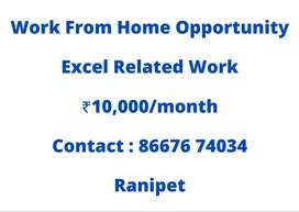 Excel Related Work - Work From Home