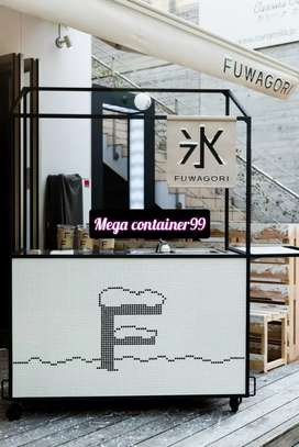 Custom kekinian booth Container cafe booth pameran booth bazar