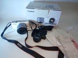 Canon Eos M10 Kit Ef-M15-45mm Kamera Mirrorless - Putih