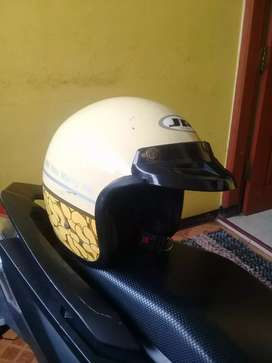 helm jp helmet bogo pet + 2 visor