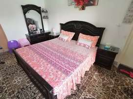 Double bed with dressing  wooden