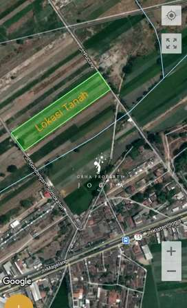 Tanah Barat Pabrik Gondang Cocok Utk Perumahan,Pabrik,Gudang