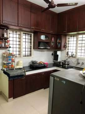 3 BHK fully furnished AC house first floor at Kaloor