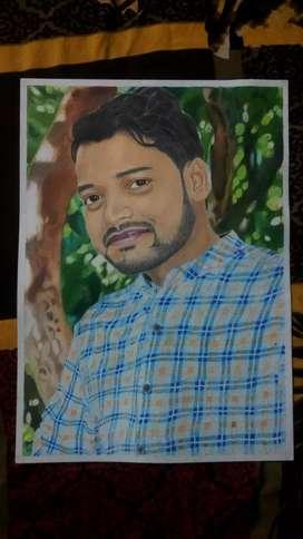 Pencil sketch artist Aman Verma
