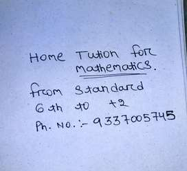 Home tution. Subject mathematics and science