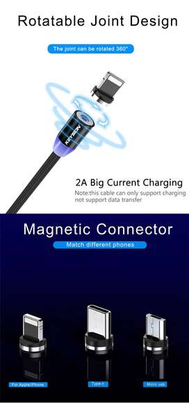 Magnetic USB Cable Fast Charging Type C Cable