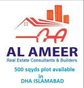 1 kanal plot for sale in DHA 5 sector H street10  islamabad