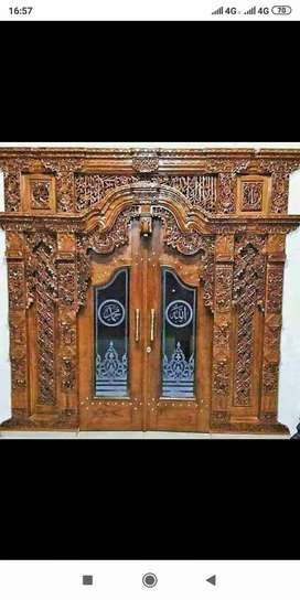 Pintu Kusen Gebyok Kayu Jati ngancani