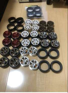 RC CARS USED TYRES AND RIM MIX