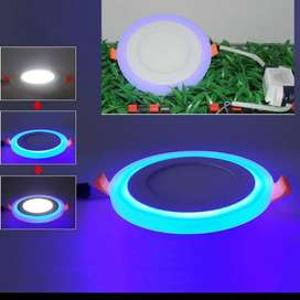 downlight led panel 2 warna 18w+6w lampu ceiling plafon 2warna ID83
