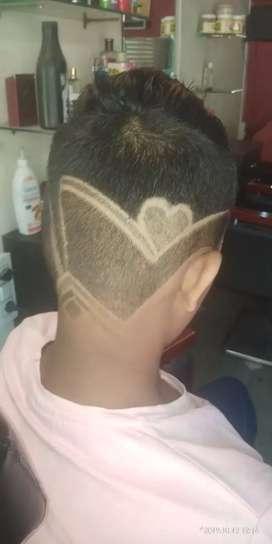 Black cut indori salon all haircut male or female