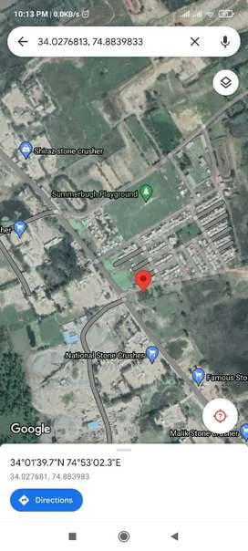 Land available for commercial as well as residential purpose
