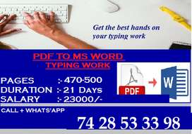 We Provide Great Income Typing Work Opportunity