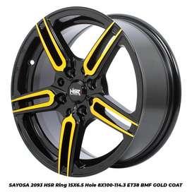 SAYOSA 2093 HSR R15X65 H8X100-114,3 ET38 BMF/GOLD