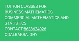 TUTOR FOR MATHEMATICS AND STATISTICS FOR COMMERCE AND ECONOMICS