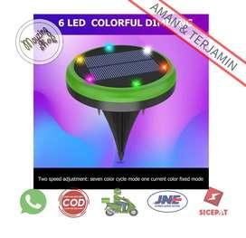 VL320 Lampu Tanam LED Solar Panel Waterproof 6 LED Colorful
