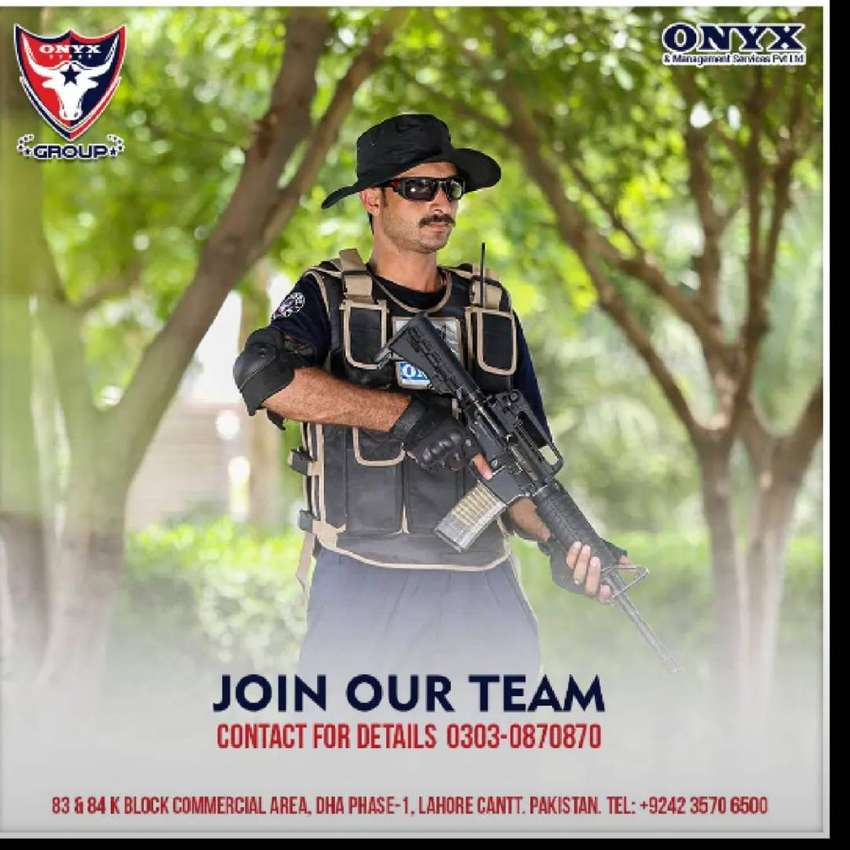 Security Guard required at Onyx Security 0