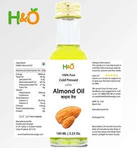 Coldpressed 100% Pure Almond Oil, Walnut Oil,Sesame Oil - GLASS Bottle