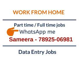Earn daily Rs.1000/- in your free time. Simple data entry jobs