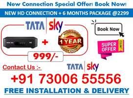 Tata sky HD Connection Offer Tatasky, AIRTEL, DishTV HD Book Sun DTH!!