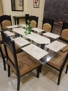 Chinyotti dinning table with 8 chairs