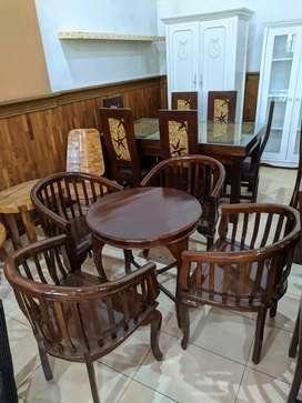 Kursi teras dari kayu jati asli 4 kursi duduk 1 meja