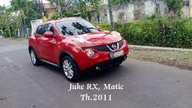 Juke RX 2011 1.5 Matic Bagus Skl