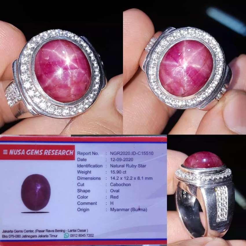Ruby Star birma 15ct memo NGR 0