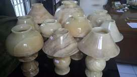 Side lamp batu natural marmer onix
