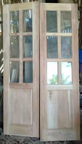 2 Daun pintu dan 4 jendela harga murah