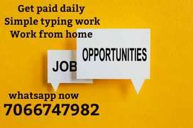 do typing work and get your payment daily