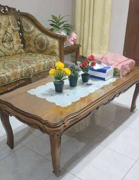 Jual 1 set sofa kursi kayu jati