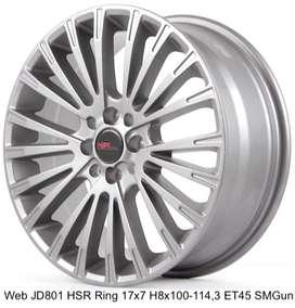 free ongkir WEB JD801 HSR R17X7 H8X100-114,3 ET45 SMG