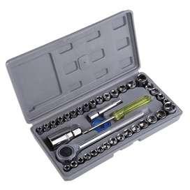 Aiwa Kunci Pas 40 Pcs Multipurpose Combination Socket Wrench Set