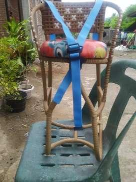 Kursi depan anak rotan full lilitan+ sabuk