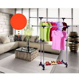 Stainless Steel Double-Pole Retractable Drying Rack
