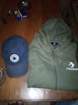 jaket dan topi coverse murmer