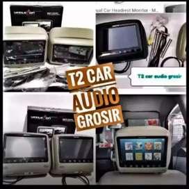 Mantul 2pc monitor headrest led 7inc SKELETON 7INC mumer harga grosir