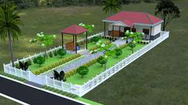 30 lacs 1BHK Farm House 300 yd plot Gated community at Pedda Golconda