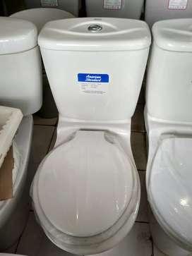 Kloset duduk American standart flush dua bagus kilap.