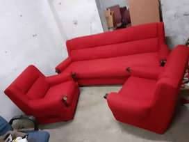 Red full cover sofa at 14000
