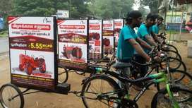 Bicycle advertising units