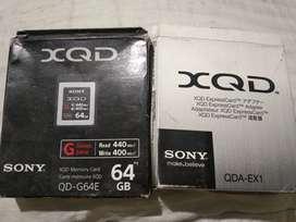 Sony XQD memory card 64gb + adapter